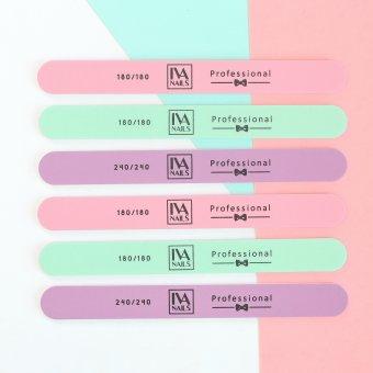 """Изображение Пилка """"Цветная-розовая"""" IVA nails пр-во Корея 180/180"""
