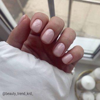 "Изображение Powder for nails BASE ""PEACH"" 30 ml (Камуфлирующая база - персиковая)"