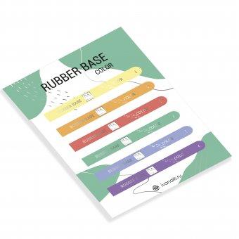 Изображение Наклейки на типсы Rubber Base Color 1-6