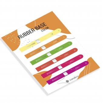 Изображение Наклейки на типсы Rubber Base Color 7-12